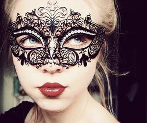 mask, girl, and lips image