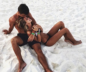 babe, beach, and Relationship image