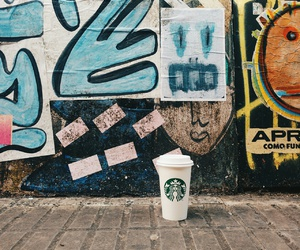 art, starbucks, and buenos aires image