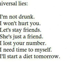 lies, text, and friends image