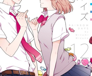 anime, couple, and rainbow days image