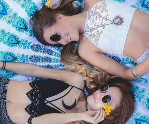 summer, besties, and coachella image