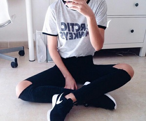 style, nike, and outfit image