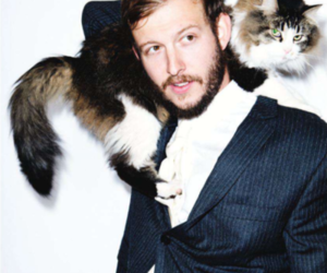 cat, bon iver, and justin vernon image