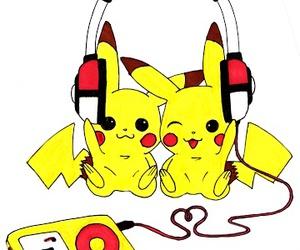 music, pikachu, and pokemon image