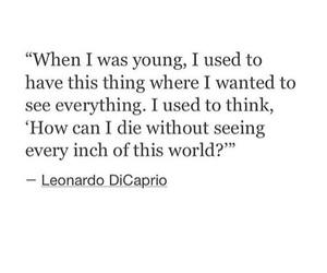 happy, leonardo dicaprio, and quote image