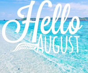 August, summer, and beach image