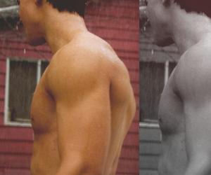 jacob black, shirtless, and Taylor Lautner image