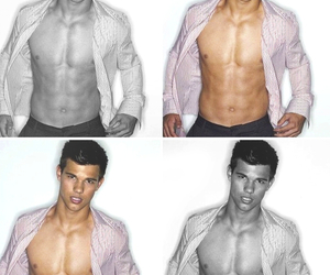 abs, shirtless, and Taylor Lautner image