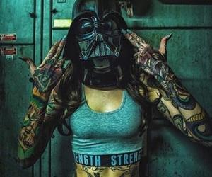 tattoo, girl, and darth vader image