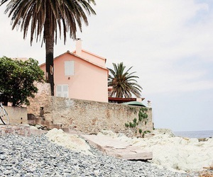 pink, beach, and house image