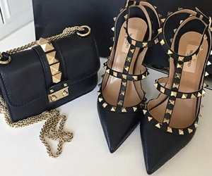 shoes, black, and bag image