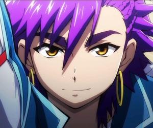 anime, Hot, and purple hair image