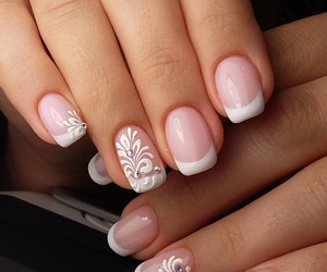 decoration, elegant, and nail art image