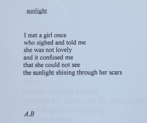 quote, poem, and scars image