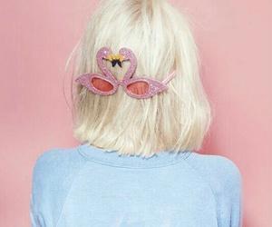 blonde, flamingo, and pink image