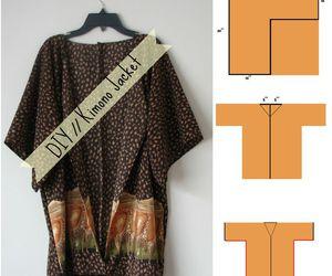 diy clothes, diy jacket, and diy kimono image