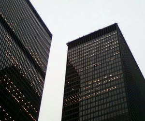 black, city, and building image