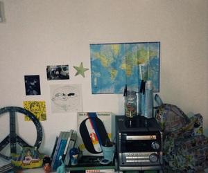 art, bag, and bedroom image