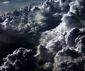 clouds, sky, and black image
