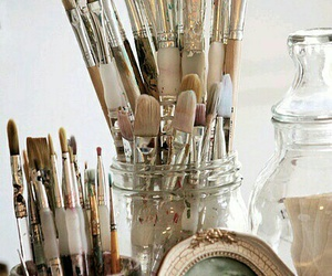 Brushes, art, and painting image