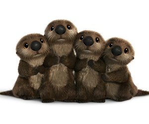 animals, disney, and otters image