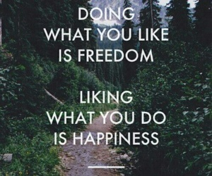 freedom, happiness, and quotes image