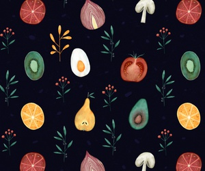 background, egg, and fruit image