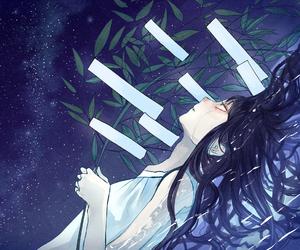 anime, blush, and crying image