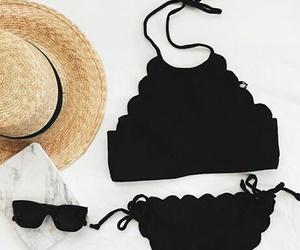 bikini and black image