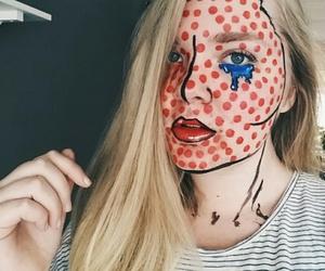 comic, girl, and makeup image