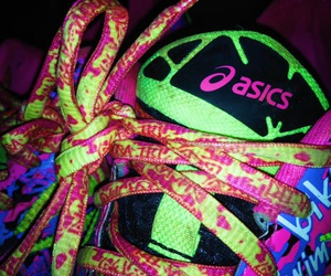 asics, green, and neon image