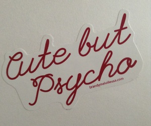 Psycho, red, and sticker image