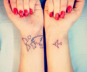 tattoo, travel, and plane image