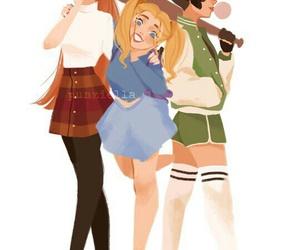 art, powerpuff girls, and bubbles image
