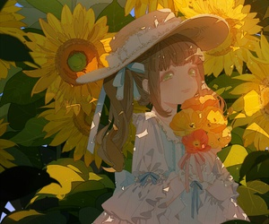 sunflower and cute image