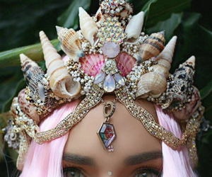 crown, mermaid, and beauty image