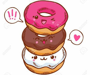 kawaii, donuts, and food image