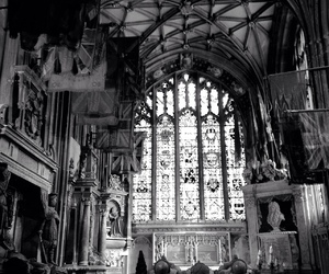 beautiful, church, and black and white image