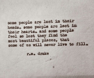quote, lost, and r.m. drake image