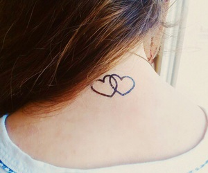 hearts, tattoo, and love image