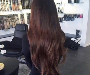hair, beauty, and brunette image