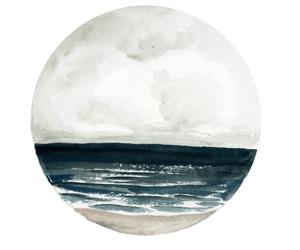 beach, water, and circle image