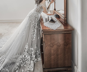dress, fashion, and wedding dress image