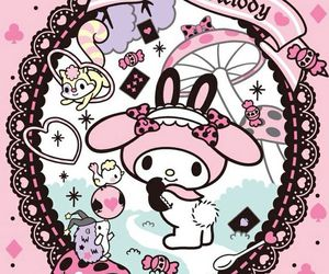 my melody, sanrio, and background image