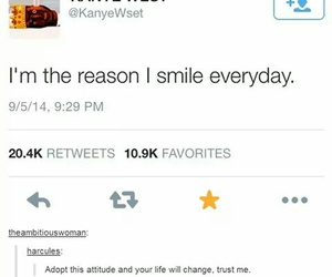 kanye west, funny, and love yourself image