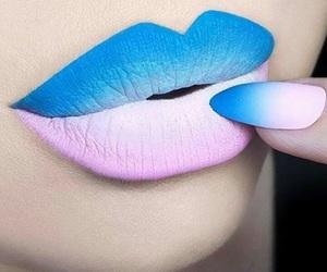 lips, makeup, and nails image