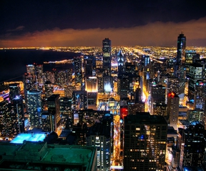 city, lights, and amazing image