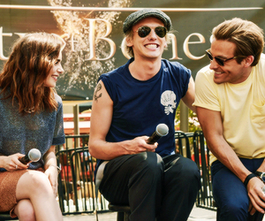 Jamie Campbell Bower, Kevin Zegers, and smile image