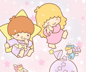 cartoon, sanrio, and little twin stars image